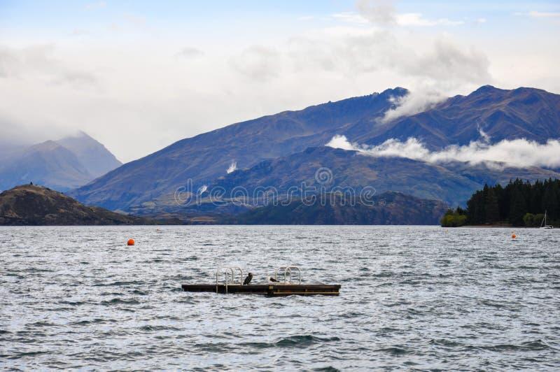 See Wanaka in Neuseeland lizenzfreie stockfotos