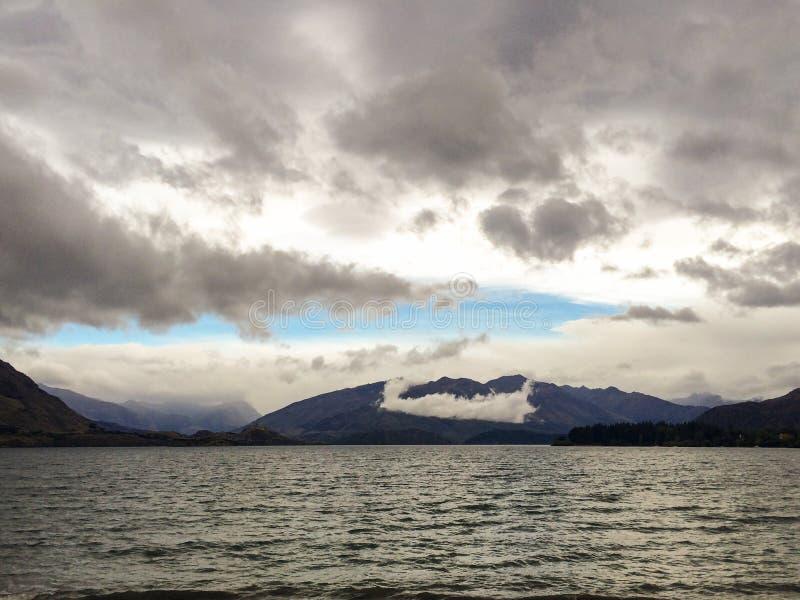 See Wanaka in Neuseeland lizenzfreie stockbilder