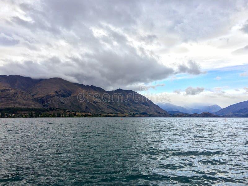 See Wanaka in Neuseeland stockfoto