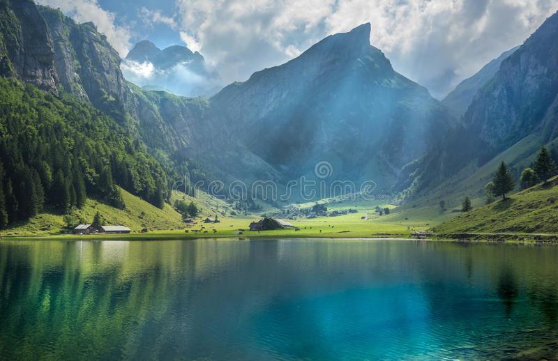 Seealpsee photo stock
