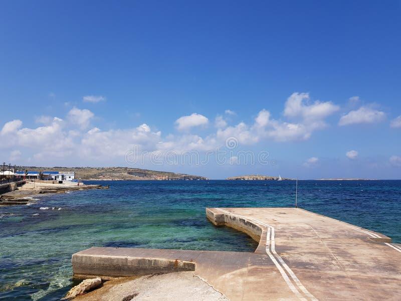 Seeansicht in Malta stockfoto