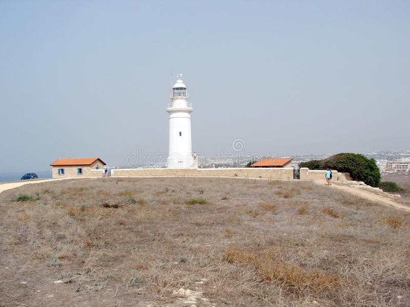 Seeansichten der zypriotischen Küste nahe der Stadt von Paphos stockfoto