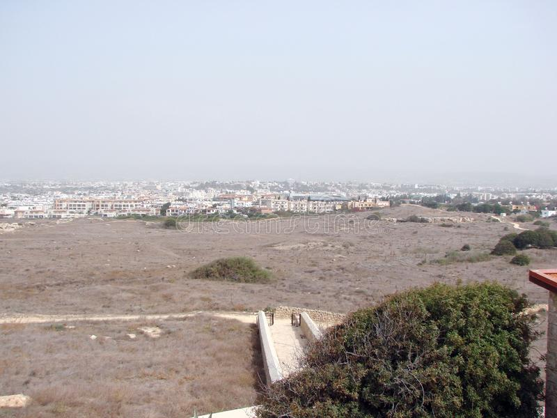 Seeansichten der zypriotischen Küste nahe der Stadt von Paphos lizenzfreies stockfoto