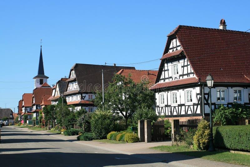 Seebach, Dorf in Elsass lizenzfreies stockbild