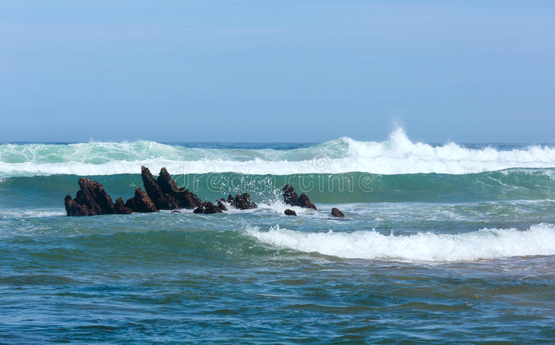 Seebrandungswellen stockbild