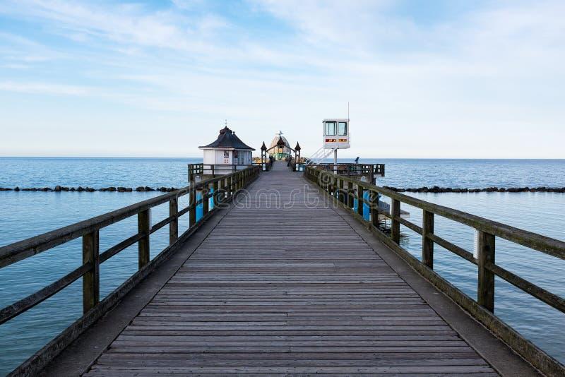Seebruecke Sellin på ön av Ruegen, Mecklenburg-Vorpommern, Tyskland royaltyfri fotografi