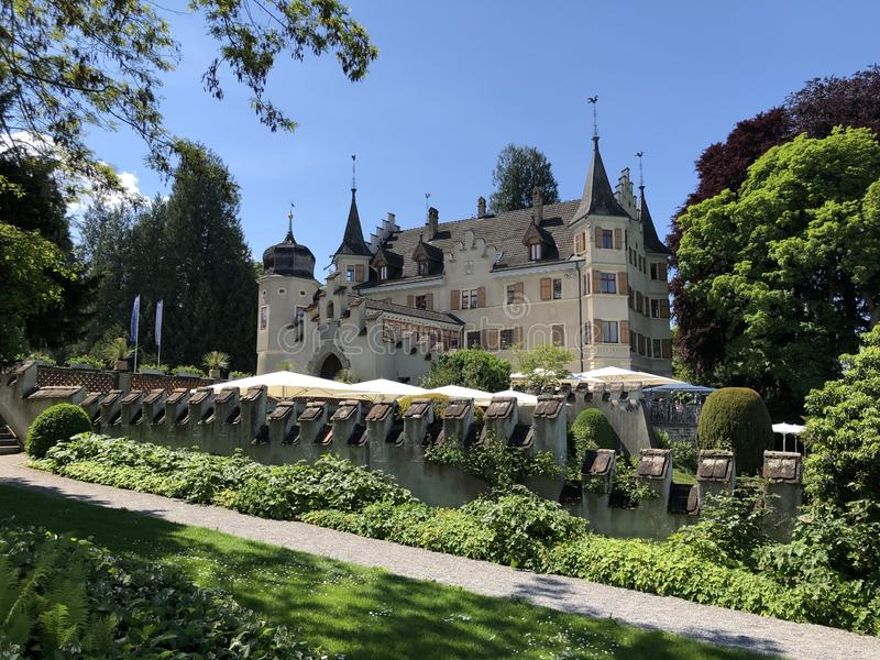 Seeburg Castle or Schloss Seeburg in Kreuzlingen, Switzerland. Seeburg Castle or Schloss Seeburg in Kreuzlingen - Canton of Thurgau, Switzerland stock photography