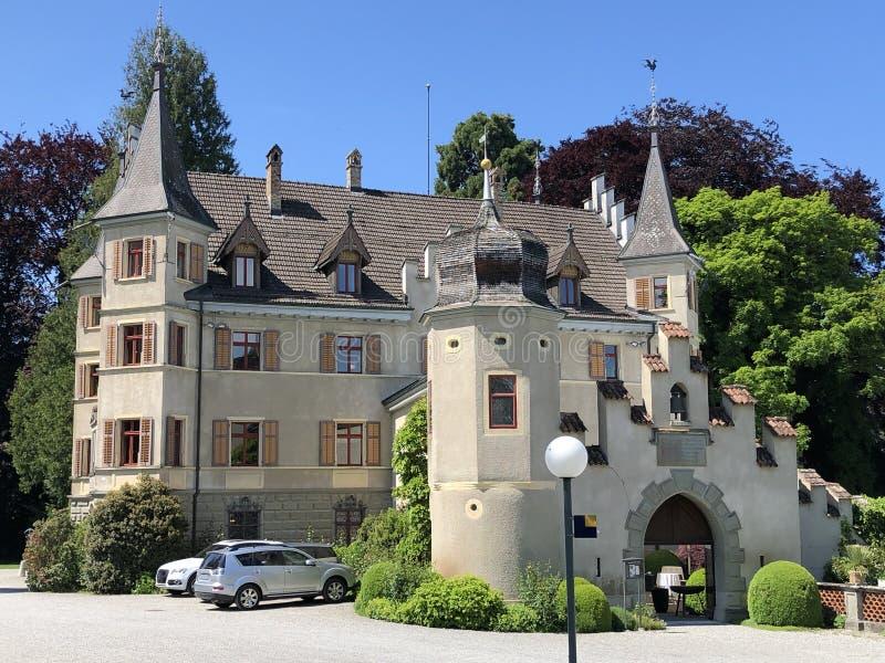 Seeburg-Schloss oder Schloss Seeburg in Kreuzlingen, die Schweiz lizenzfreies stockfoto