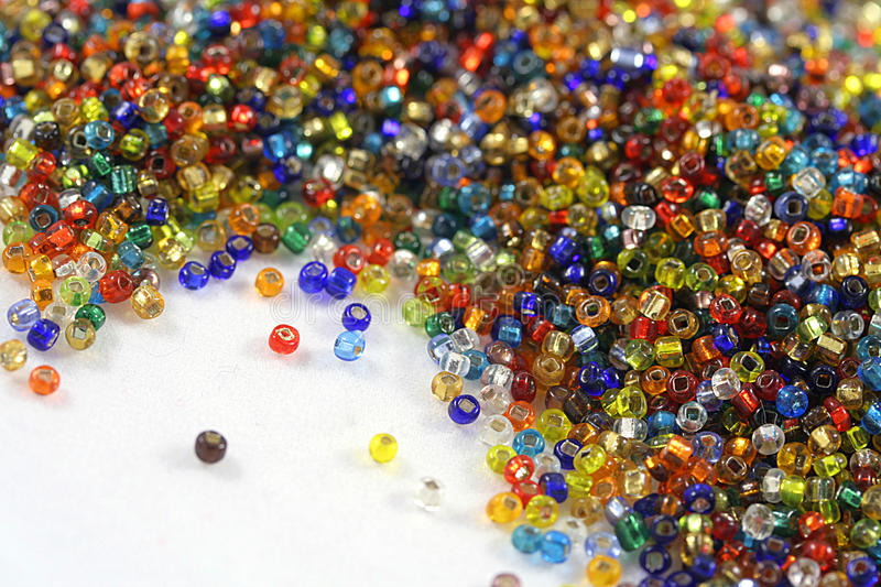 Seed beads royalty free stock photography
