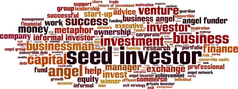 Seed investor word cloud. Concept. Vector illustration stock illustration