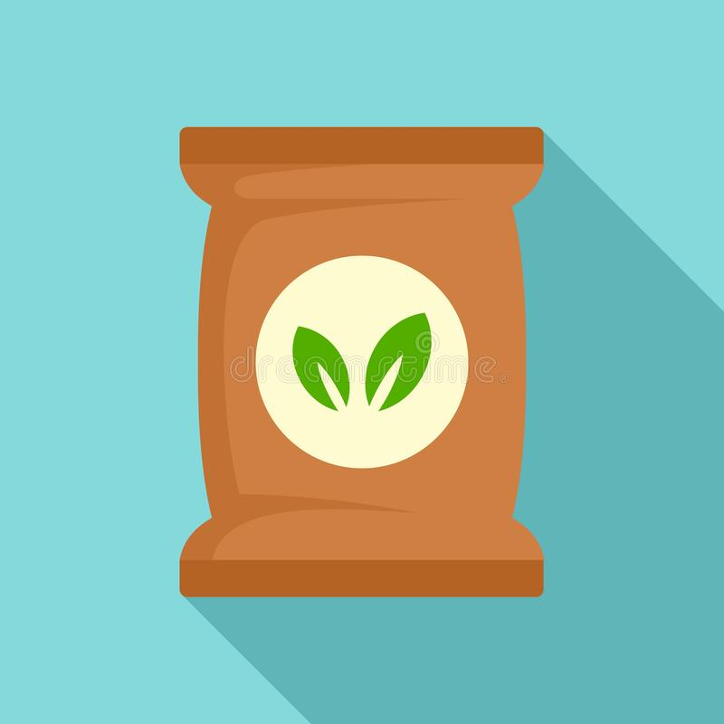 Seed plant pack icon, flat style stock illustration