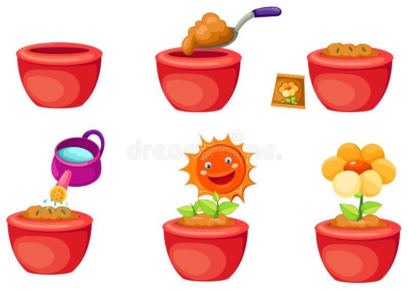 Seeding icons vector illustration