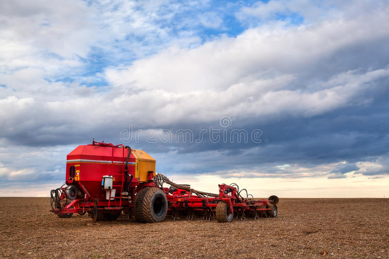 Download Seeding machine stock photo. Image of field, landscape - 23735382