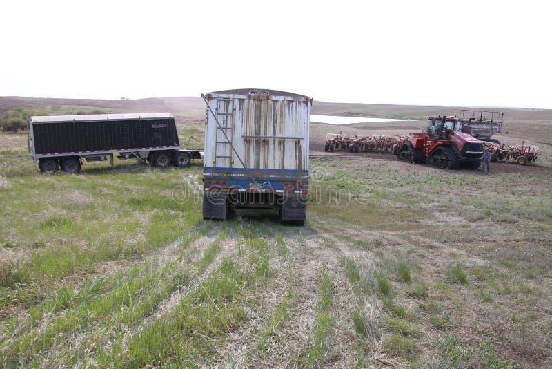 Seeding in Saskatchewan stock photos