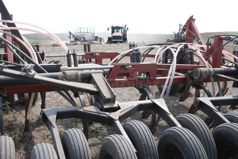 Seeding in Saskatchewan stock image