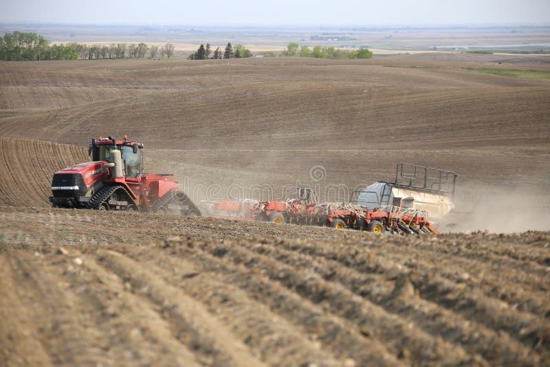 Seeding in Saskatchewan stock photography