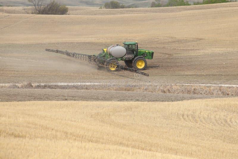 Seeding in Saskatchewan stock photo