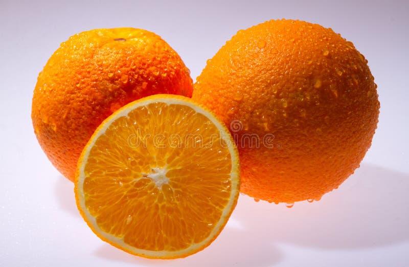 Seedless apelsin för Navel på vit arkivbilder