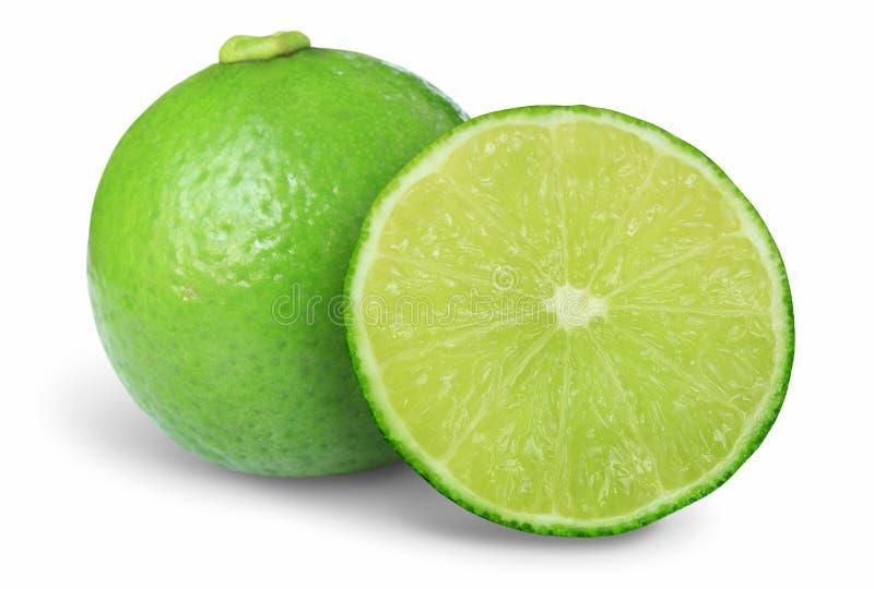 seedless isolerad stor limefrukt royaltyfria bilder
