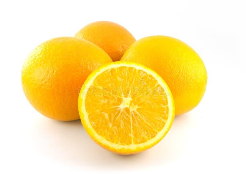 Seedless orange fruite för skivanavel fotografering för bildbyråer
