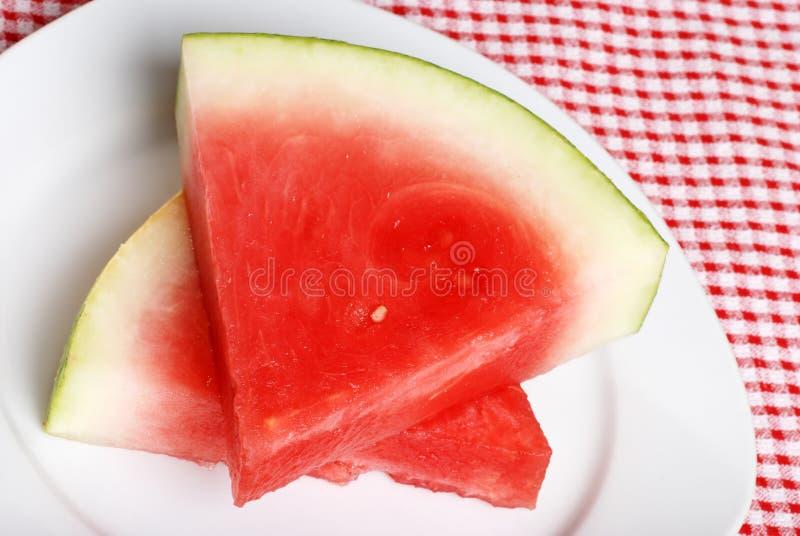 seedless vattenmelon för övre sikt arkivfoto