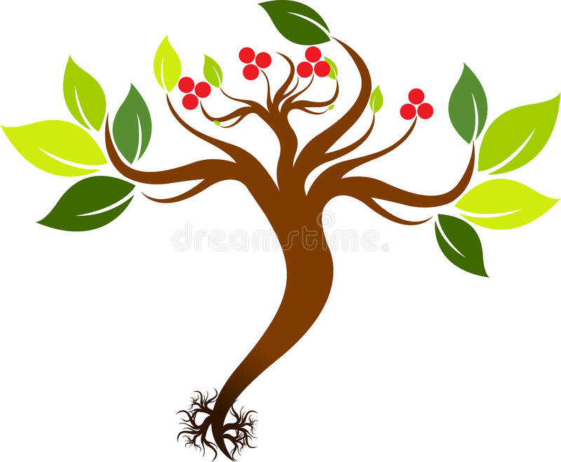 Seedling with roots vector illustration