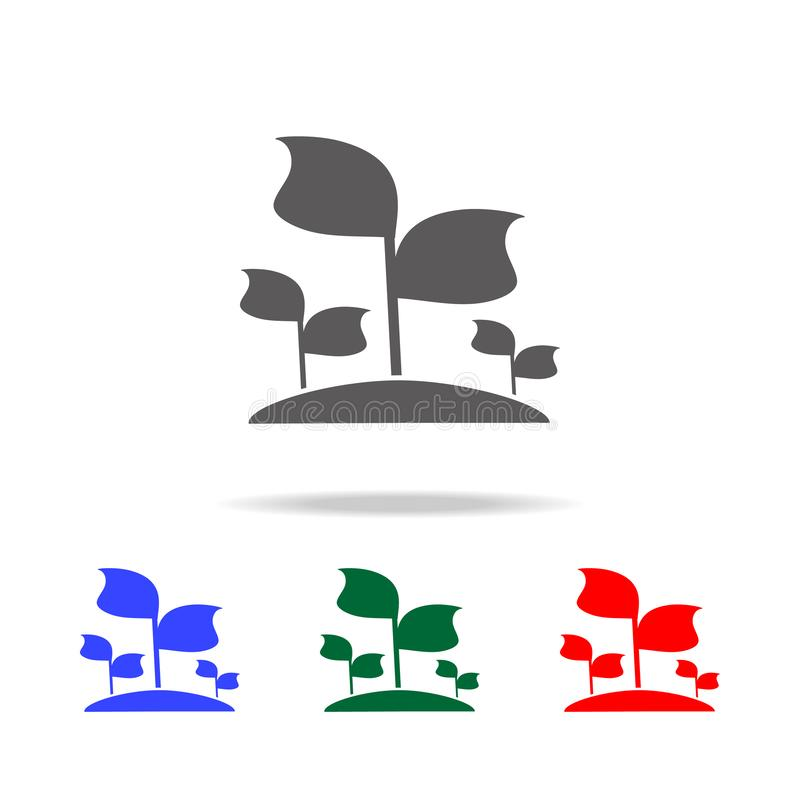 Seedlings icon. Elements of garden in multi colored icons. Premium quality graphic design icon. Simple icon for websites, web. Design, mobile app, info graphics royalty free stock photo