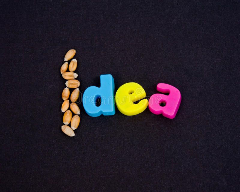 Seeds Of An Idea. Royalty Free Stock Image