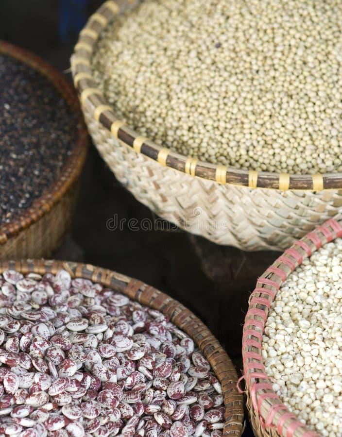 Seeds at a market stock photos