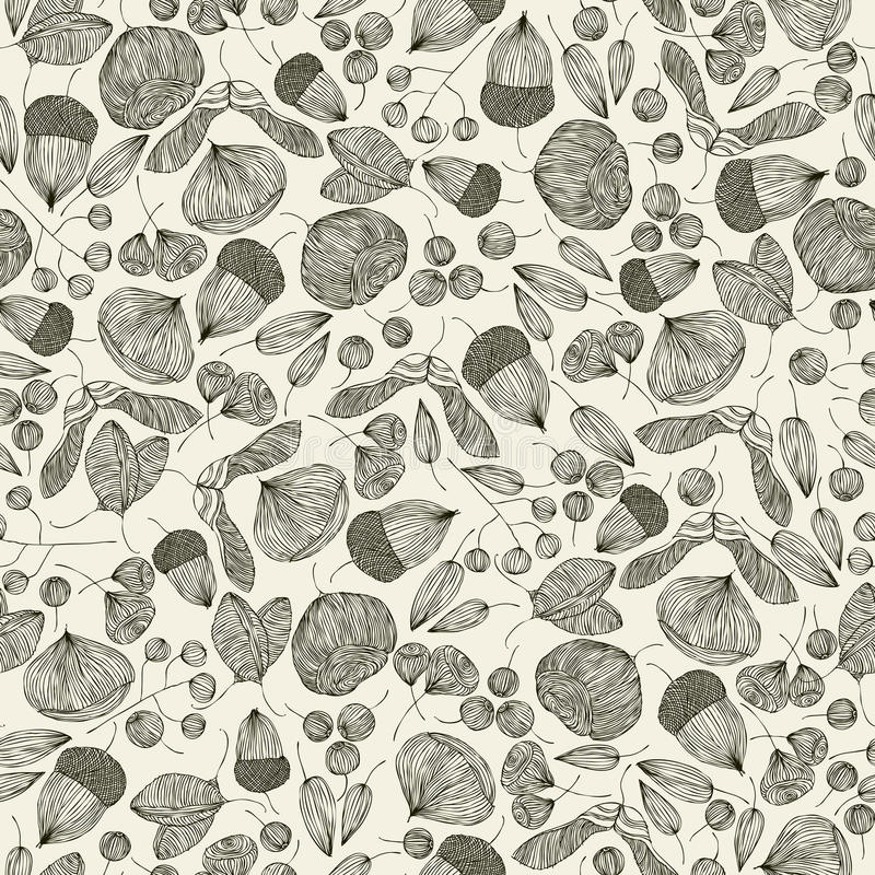 Seeds Seamless Pattern. Royalty Free Stock Photography