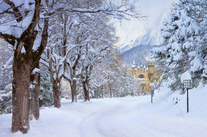 Seefeld kasztel w zimie zdjęcie stock