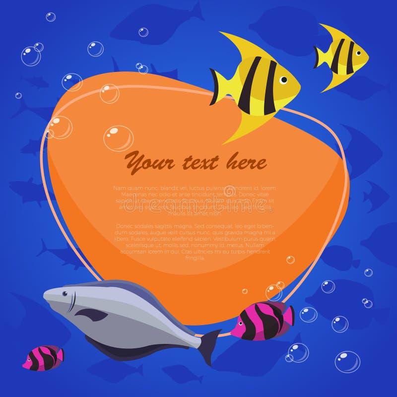 Seefisch auf hellem Hintergrund mit Platz für Ihren Text Auch im corel abgehobenen Betrag stockfotos