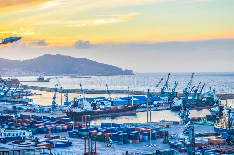 Seehafen andustry lizenzfreies stockfoto
