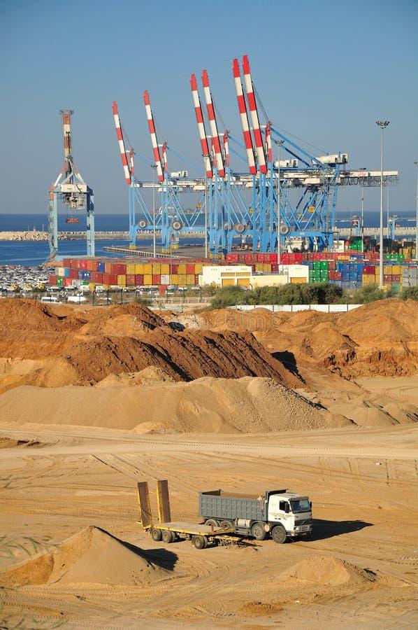 Seehafen von Ashdod. Israel. stockfotografie