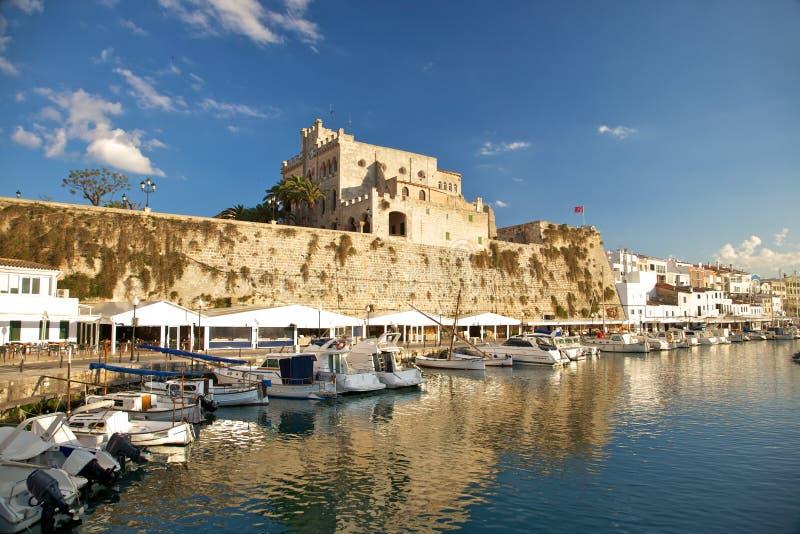 Seehafen von Ciutadella lizenzfreies stockbild