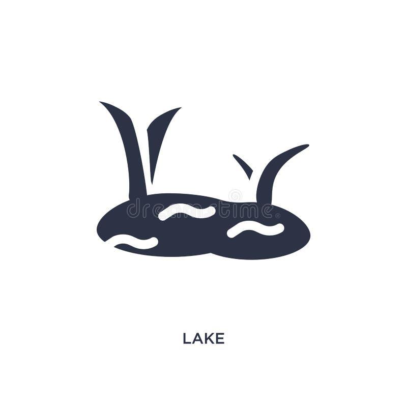 Seeikone auf weißem Hintergrund Einfache Elementillustration vom Sommerkonzept lizenzfreie abbildung
