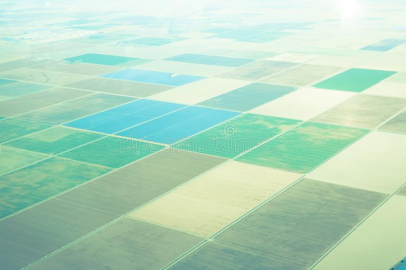 Seeing the californian landscape from above stock photos