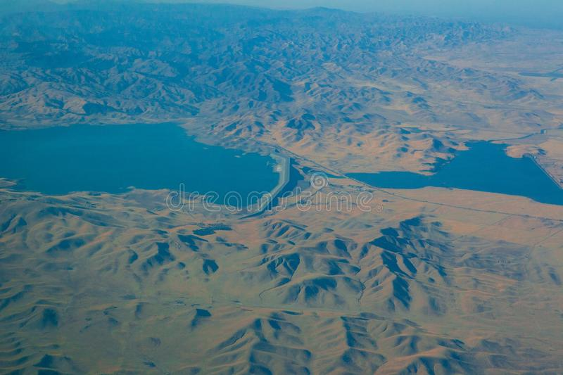 Seeing the californian landscape from above stock images