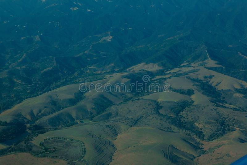 Seeing the californian landscape from above royalty free stock photos