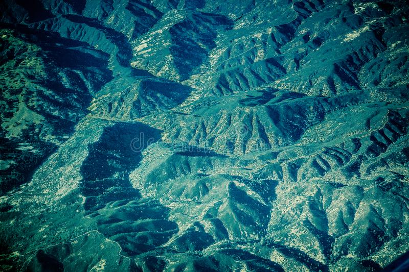 Seeing the californian landscape from above stock image