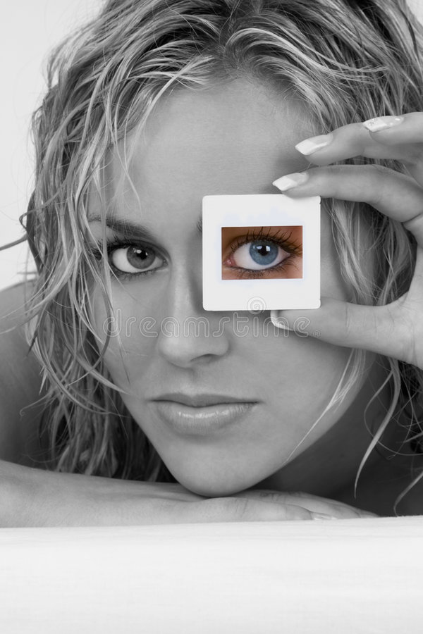 Download Seeing In Color stock image. Image of eyes, model, complexion - 3721237