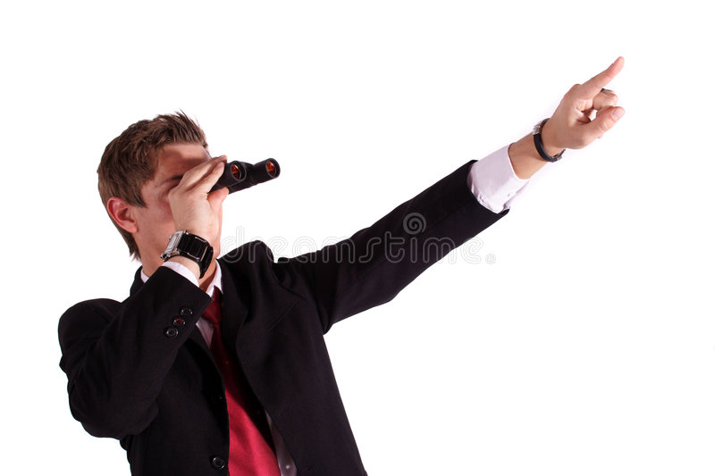 Seeing new chances royalty free stock photos