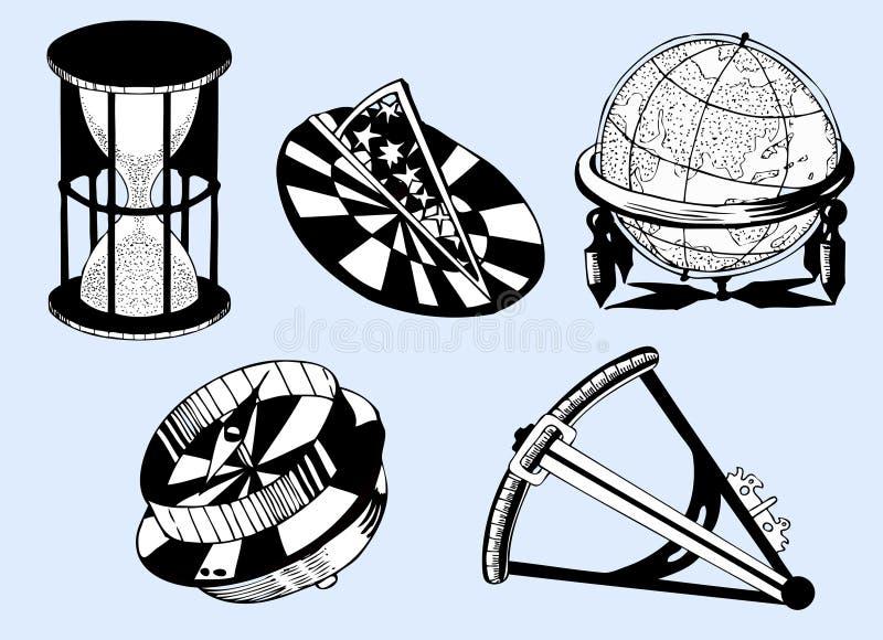 Seeinstrumente lizenzfreie abbildung
