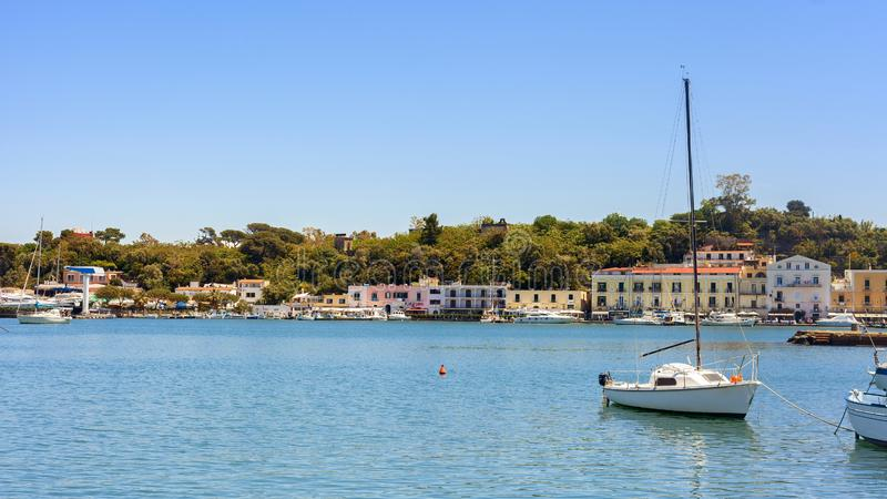 Seeküste in der Insel von Ischia stockbild