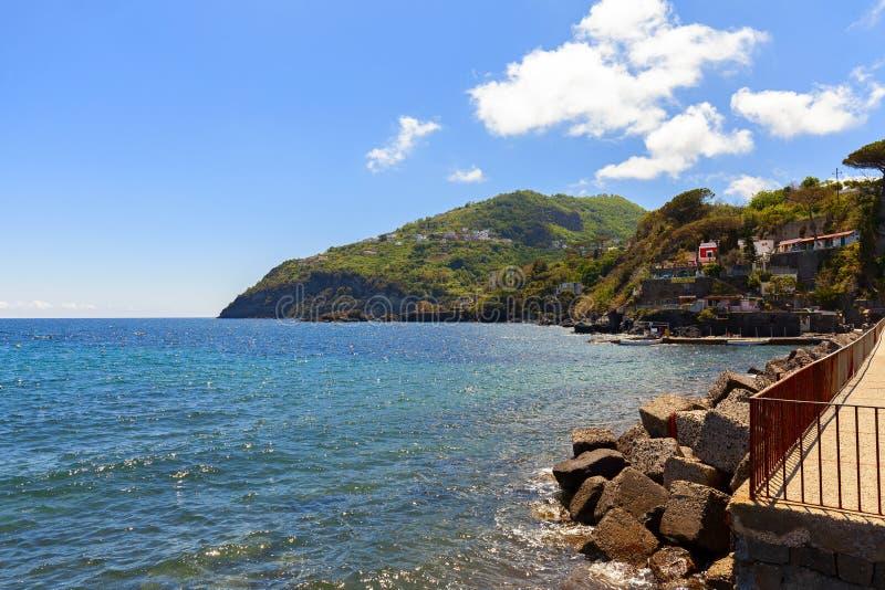 Seeküste in der Insel von Ischia lizenzfreie stockfotos