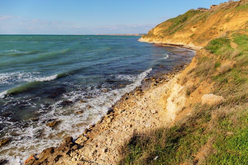 Seeküste in der Krim stockbild