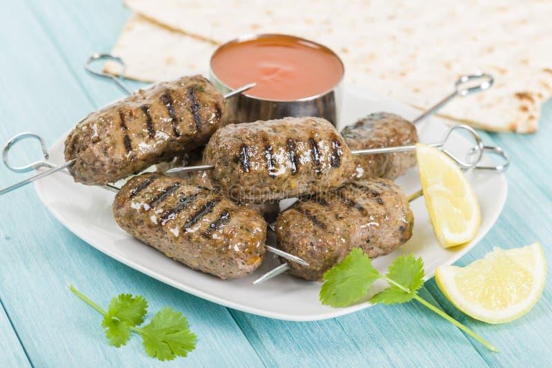 Seekh kebab zdjęcie royalty free