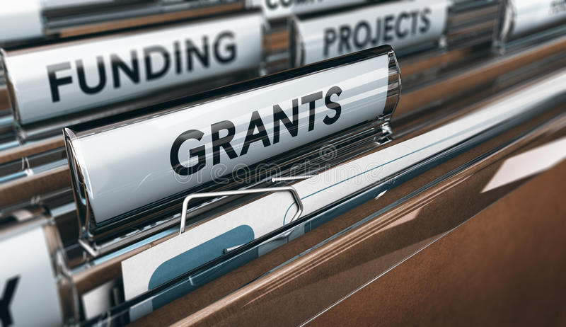 Seeking Grants for an Association, a Small Business or for Research vector illustration