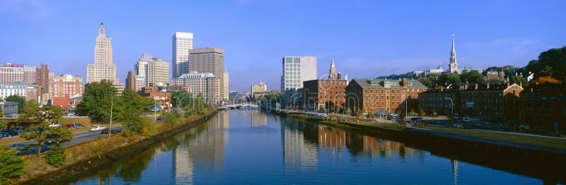 Seekonk River Passing Through Providence. Rhode Island royalty free stock photography