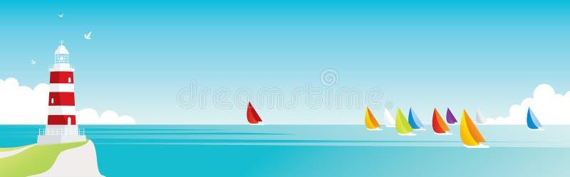 Seelandschaft lizenzfreie abbildung